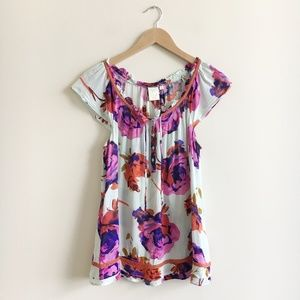 Anthropologie Eloise Floral Top